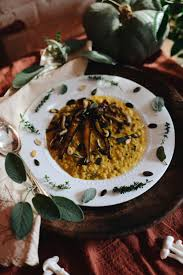vegan gluten free thanksgiving recipes pumpkin sweet brown risotto with maple glazed carrots u0026 wild