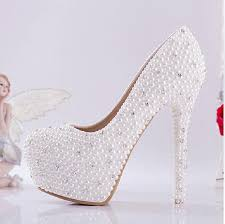 Wedding Shoes Ivory New Bride Shoes Ivory Beautiful Vogue Crystals And Pearl High