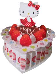 hello kitty birthday heart cake pop up greeting card birthday