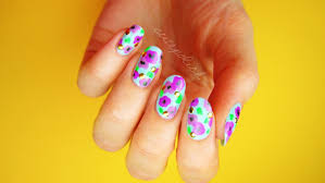 bold floral nails for spring no tool nail art youtube