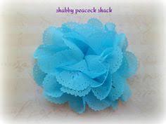 pink huge polka dot shabby chiffon flowers wholesale fabric