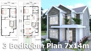 Homeplan Sketchup Modeling Home Plan 7x14m Youtube