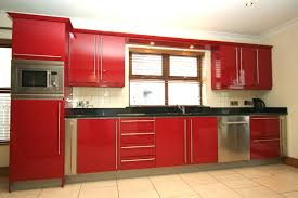Red Gloss Kitchen Cabinets Lovely Gloss Red Kitchen Taste