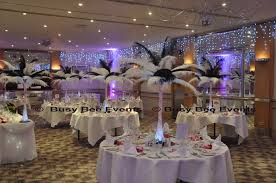 feather display table centerpieces table