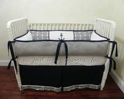 Nautical Baby Crib Bedding Sets Nautical Baby Bedding Etsy