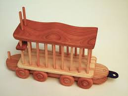 Handcrafted Wooden Toy Box by A Wooden Train Toy Of Beautiful Hardwoods