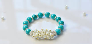turquoise beads bracelet images How to make a simple beaded bracelet with turquoise beads and jpg