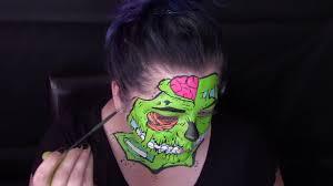 giy pop art zombie halloween makeup tutorial youtube