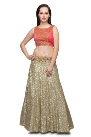 top design gold coral crop top skirt by ministry of design for rent