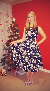 rockin around the christmas tree in a polka dot dress claire