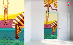 savanna jungle kids wall murals kids room wallpaper baby kids wallpaper mural monkeys and zebra