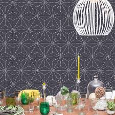 Decorative Wall Stencils Fun Floral Wall That You Can Do At Home A And A Glue Gun