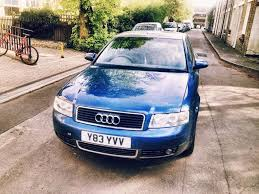 audi a4 2001 saloon blue petrol manual good condition in
