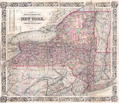 New York Rail Map by File 1876 Colton Railroad Pocket Map Of New York State