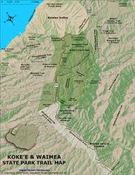 Hawaii State Map by Kokee And Waimea State Park Hiking Trails Kauai Hawaii