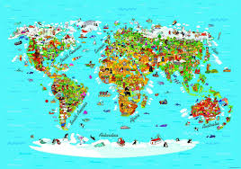 weltkarte für kinderzimmer fototapete tapete kinder weltkarte landkarte 360x254cm