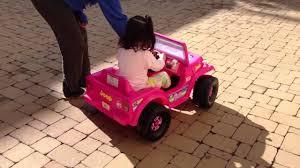 barbie jeep mimi tries her new barbie jeep youtube