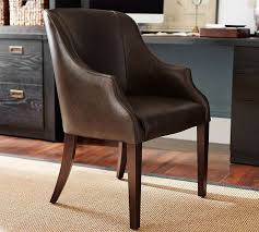Floor Chairs Laurel Leather Desk Chair Pottery Barn