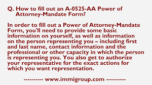 Where Do You Get A Power Of Attorney Form how to fill out an a 0525 aa power of attorney mandate form youtube