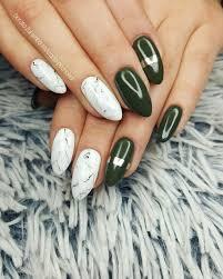 khaki white marble glamour nails style nails design nails