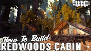 ark building tutorial redwoods cabin a frame cabin build