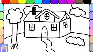 learn how to draw and color a house fun coloring pages for kids