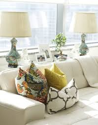 console table behind sofa console behind the couch for space saving add lighting and table