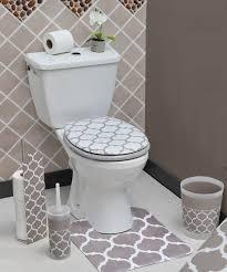 Bathroom Contour Rug Pedestal Mat Microfiber Bathroom Toilet Contour Rug Mat Escal 20 L