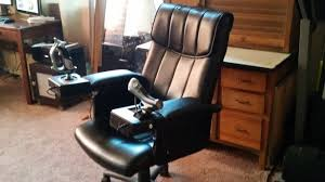 Homemade Gaming Desk by Flight Sim Chair Roselawnlutheran