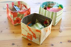 fabric boxes crafts pinterest fabric scraps scrap and tutorials