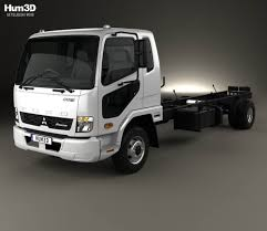 mitsubishi truck 2015 mitsubishi fuso fighter chassis truck 2017 3d model hum3d