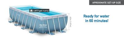 Intex Ultra Frame Pool 14x42 Amazon Com Intex 16ft X 8ft X 42in Rectangular Prism Frame Pool