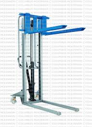 en material handling equipment manual drive stackers manual drive