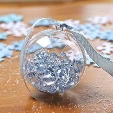12 pcs 70mm ornament diy clear sphere plastic