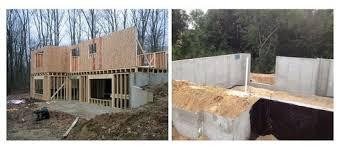 walkout basement poured concrete walkout side v s framed wood