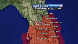 Map Central Florida by Tornado Watch Issued For Multiple Central Florida Counties Where