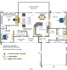 Floor Plan Of House Kitchen Living Room Layout
