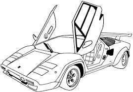 sports car coloring pages printable coloringgokids coloring home