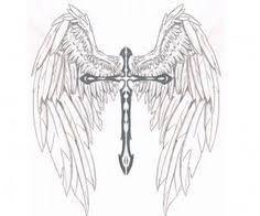 marketplace cross with wings 14700 createmytattoo com
