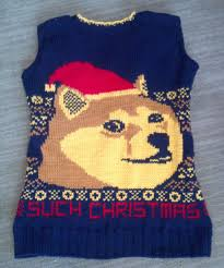 Doge Meme Christmas - knitted doge christmas sweater vest doge memes and funny things