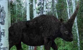 weird mammoth rhino creature