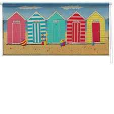 Camper Van Blinds Beach Huts Printed Blind Martin Wiscombe Picture Printed Blinds