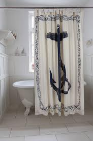 Nautical Bathroom Curtains Nautical Anchor Shower Curtain 11 Bathrooms