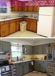 before and after kitchen cabinet painting before and after teeny tiny kitchen cheap makeover what an amazing
