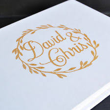 personalized wedding guest book unbranded wedding guest book ebay
