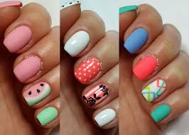design art video pink short nails with white tip design nail art