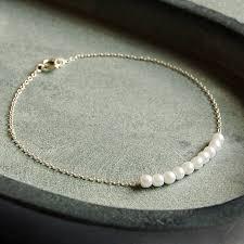 silver pearls bracelet images Delicate sterling silver pearl cluster bracelet by highland angel jpg