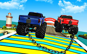 monster trucks races cartoon cars chained cars racing games stunt truck driver 3d android apps on