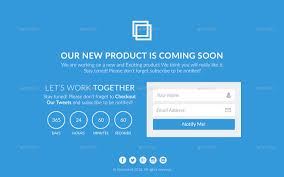 flat design coming soon template by ruminated graphicriver