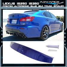 blue lexus fits 06 13 lexus is250 ik style trunk spoiler painted color